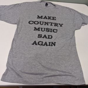 Unisex Tultex country music graphic tee, size L
